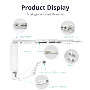 Image 5 - Zemismart Smart Curtain Blind Motor Alexa Echo Google Home Tuya WiFi Control Broadlink RF Control Electric Stage Curtains