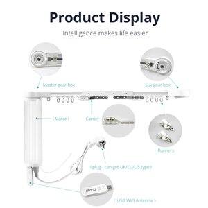 Image 5 - Zemismart inteligentny silnik kurtyny niewidomych Alexa Echo Google strona główna Tuya sterowanie przez WiFi Broadlink sterowanie radiowe elektryczne zasłony sceniczne