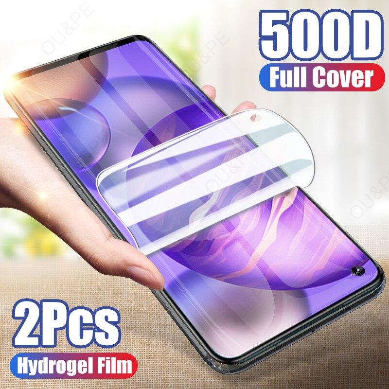 2 pçs filme de hidrogel para huawei honor 8x 9x 8 9 10 20 lite 10i 8a 30s 8s protetor de tela para huawei p30 pro p20 lite não vidro