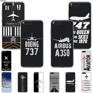 Airplane DIY Airstrip Number Phone Case For Xiaomi Mi A1 6x A2 5x mix3 Max2 Play Black Shark 3 2 Redmi 10x GO Y2 S2 Note 5 4 A(China)
