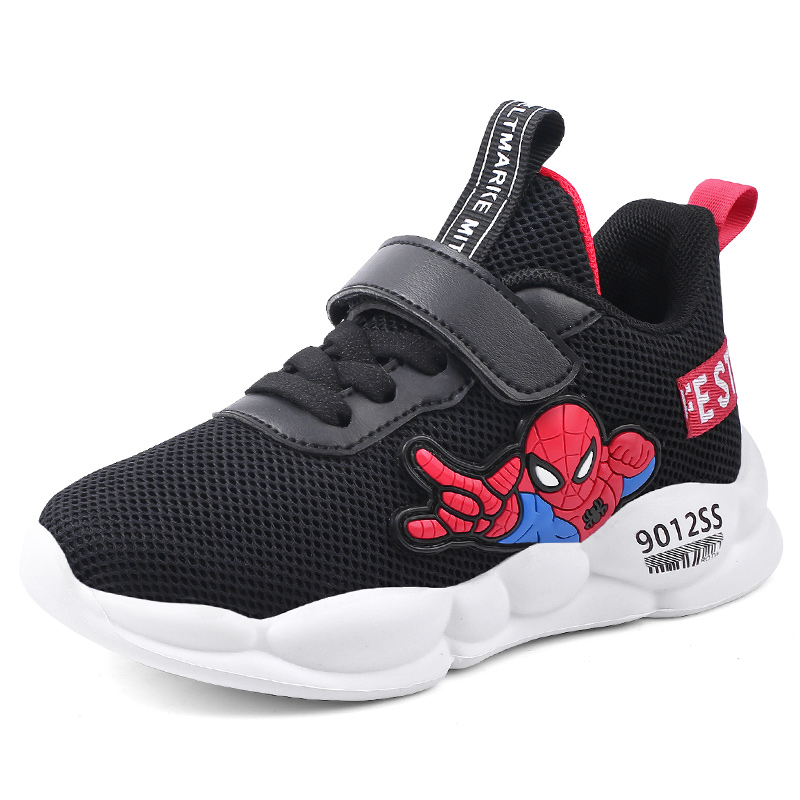 2019 autumn New autumn lightweight kids shoes children boys sneakers toddler Spiderman Casual Sport Running Breathable