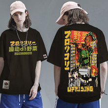 2021 Men Hip Hop T Shirt Japanese Harajuku Cartoon Monster T-Shirt Streetwear Summer Tops Tees Cotton Tshirt Oversized HipHop