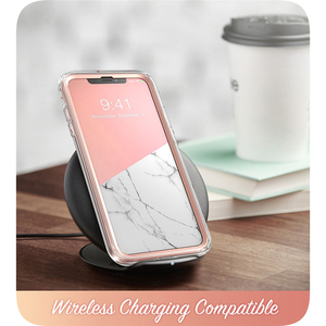 Image 3 - I BLASON For iPhone X Xs Case 5.8 inch Cosmo Series Full Body Shinning Glitter Marble Bumper Case with Built in Screen Protector