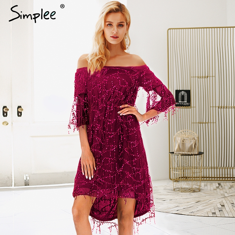 Simplee Strap Mesh Sequins Maxi Dress Elegant Backless Lace Up Long Party Dress Robe Femme Autumn Winter Lady Sexy Dress