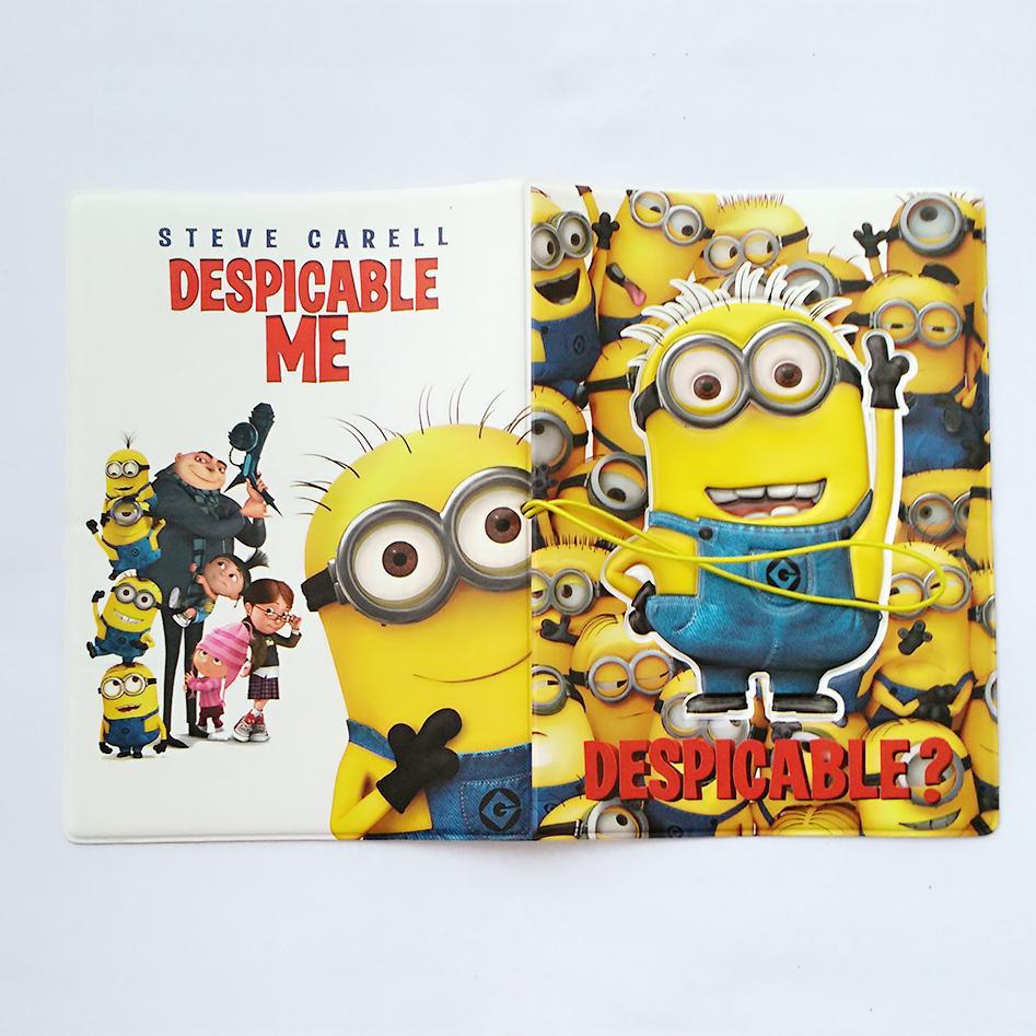 Minions Despicable Me 2 Gru 3D Cartoon Movie Passport Holder Case Cover