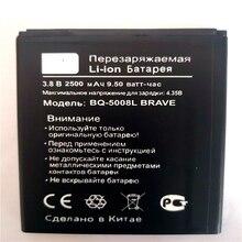 New 2500mAh BQ-5008L BRAVE Battery For BQ BQ-5008L Brave BQ 5008L Mobile Phone with phone stander for gift