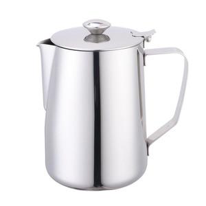 Image 1 - 600ml Stainless Steel Latte Art Cup with Lid Milk Foam Cup Coffee Set