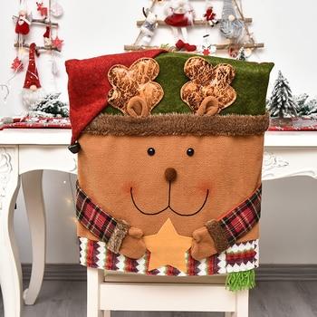 Christmas Snowman &Amp; Santa Chair Cover 1 Chair And Sofa Covers