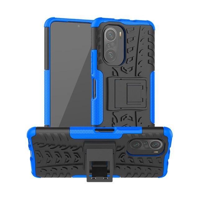 For Cover Xiaomi Poco F3 Case For Poco F3 Capas Armor Holder Stand Bumper Shockproof Heavy Hard Cover For Poco F3 X3 Pro Fundas