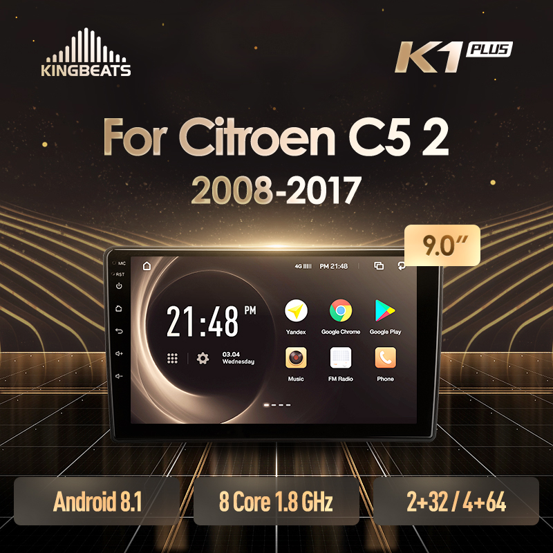 KingBeats Android 8.1 Octa-Core head unit 4G in Dash Car Radio Multimedia Video Player Navigation GPS For Citroen C5 2 2008 - 20