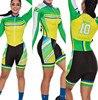 Terno de triathlon profissional, camiseta de ciclismo preta feminina, macacão, manga longa em gel, conjunto de ciclismo, 2019 19
