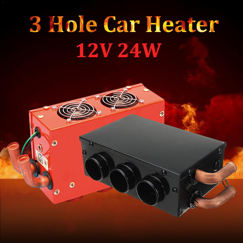 DC 12V 24W 3 Hole Portable Vehicle Car Heating Cooling Heater Defroster Demister Car Heater