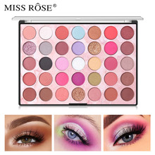 MISS ROSE Matte Shimmer Eye Shadow Palette 35 Colors Pigment Powder Long Lasting Glitter Pallete Makeup Cosmetics