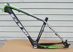Marco de bicicleta de montaña con freno de disco de carbono mate 26er 16/17 pulgadas
