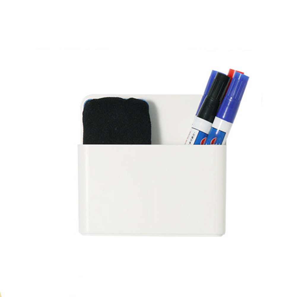 Pen Box Rack Anti Slip Tray Wall Mount Marker Holder Meeting Room Magnetic Dry Eraser Board Whiteboard Office School Workplace