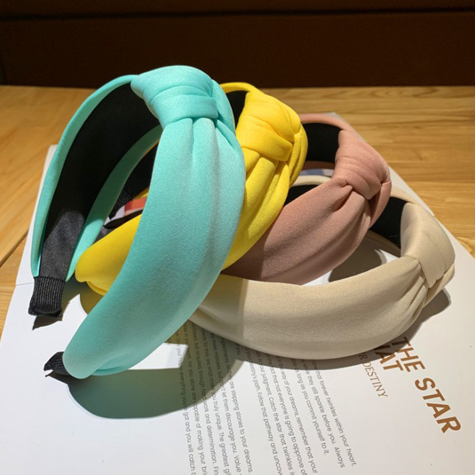 New Faashion Solid Headband Women High Soft Hairband Adult Wide Side Hih Elastic Sponge Material Turban Headwear Wholesale