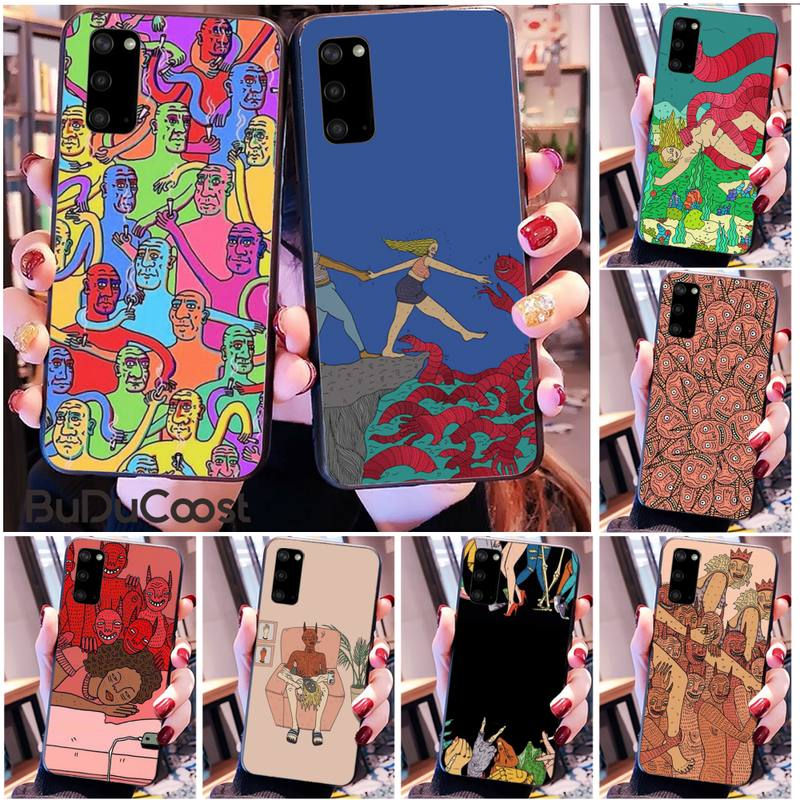 Riccu polly nem pintura arte suave capa de telefone para samsung s20 plus ultra s6 s7 borda s8 s9 mais s10 5g
