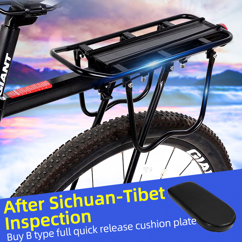 Rockbros rack de bicicleta mtb estrada prateleira liga alumínio rack liberação rápida tripulado traseiro tailstock acessórios da bicicleta