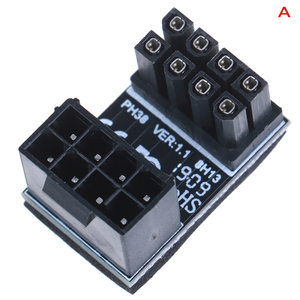 Image 3 - Atx 8pinオス180度アングル8Pinメス電源アダプタデスクトップ用のグラフィックスカード