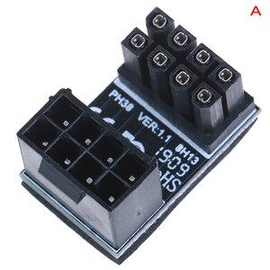 Image 3 - Atx 8pin Mannelijke 180 Graden Schuin Naar 8Pin Vrouwelijke Power Adapter Voor Desktops Grafische Kaart