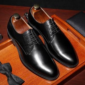 Image 5 - דסאי אמיתי עור אדום נעלי גברים עסקי נעלי לגבר מותג הנעלה גברים של נעליים יומיומיות קלאסי 2019