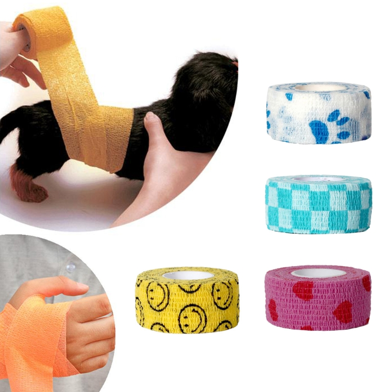 Outdoor Medical Bandage First Aid Waterproof Self Adhesive Elastic Tape Colorful