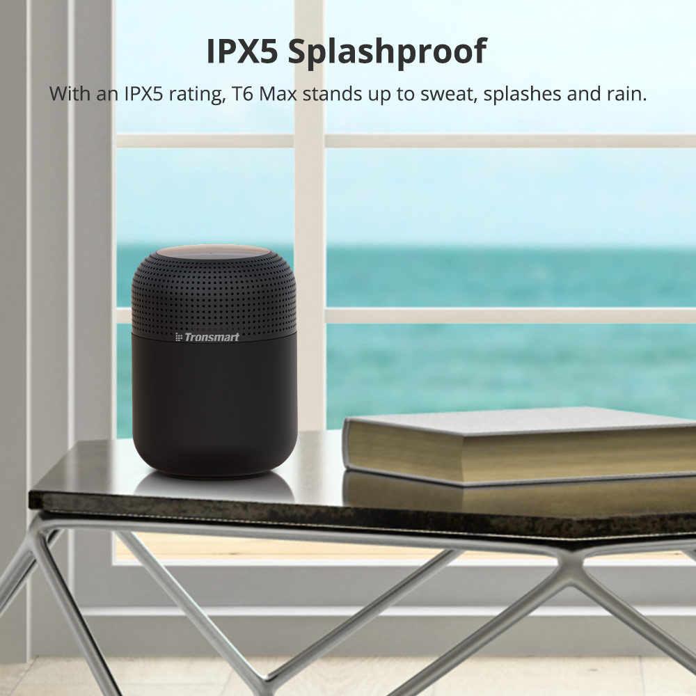 【Wireless dengan Nfc】tronsmart Elemen T6 Max 60W Tahan Air Tws Bluetooth Speaker 360 Suara Stereo Deep Bass Home Theater Kolom