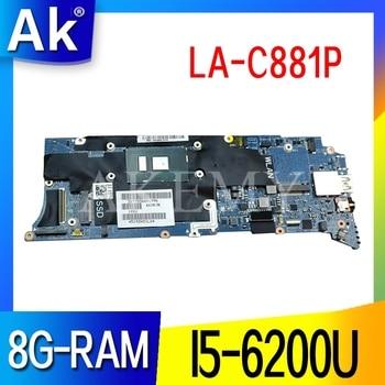 LA-C881P Laptop motherboard for Dell XPS 13 9350 original mainboard 8G-RAM I5-6200U
