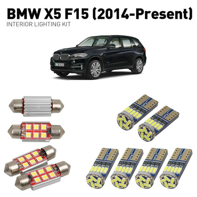 Led interior lights For BMW x5 f15 2014 22pc Led Lights For Cars lighting kit automotive bulbs Canbus Error Free in Signal Lamp from Automobiles Motorcycles
