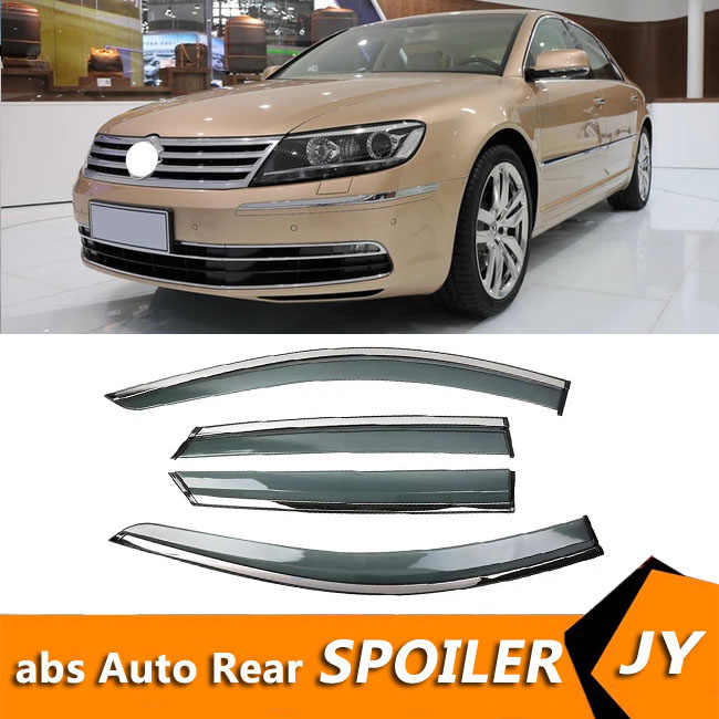 Volkswagen Phaeton 2011-2015 용 Window Visor Vent Shades s 자동 액세서리 용 Sun Rain Deflector Guard 4 개/대
