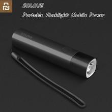 Originele Youpin Solove Draagbare Zaklamp Mobiele Power Usb Oplaadbare Helderheid Edc Zaklamp 3000 Mah Led Zaklamp Voor Fiets