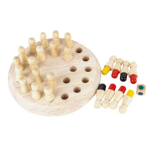 Wooden Memory Chess Toys For Baby Kids Wooden Manual Brain Toy Match Stick Game Kid Intelligence IQ Brain Teaser Game #BL5
