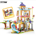 10859 730 шт.  совместимые игрушки lepining Friends для детей  серия Friend ship House  набор строительных блоков  подарки для девочек