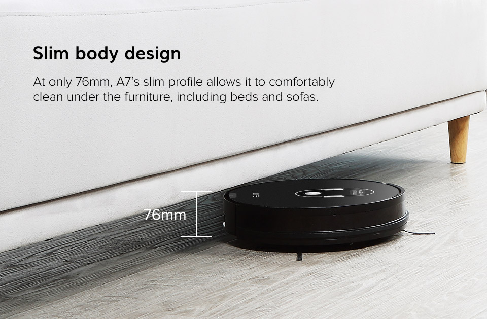 H29acc369310545a0ae407c67159454bct ILIFE A7 Robot Cleaner Vacuum Smart APP Remote Control for Hard Floor and Thin Carpet Automatic Recharge Slim Body