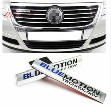 цена на 1pcs 3D Car Sticker Emblem Auto grill Badge Decal For Volkswagen Bluemotion Technology Golf Polo Passat Touareg car Styling VW