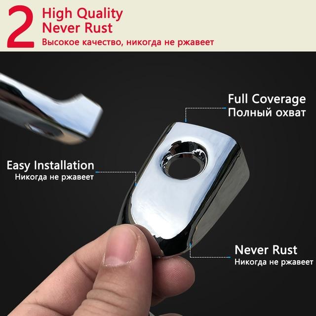 for KIA Sportage MK3 SL 2011 2012 2013 2014 2015 Chrome Door Handle Cover Exterior Trim Catch Car Cap Stickers Accessories ABS 4