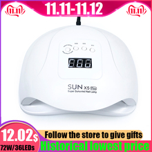 New SUN 5 X Plus UV LED Lamp 72W Nail Dryer With Auto Sensor LCD Display 36 LED Nail Dryer Lamp For manicure Gel Polish