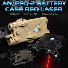 WADSN Airsoft טקטי AN peq PEQ 2 סוללה מקרה אדום לייזר עבור 20mm מסילות אין פונקצית PEQ2 תיבת WEX426