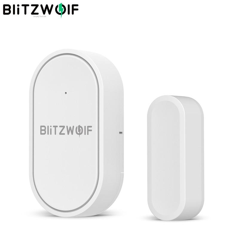 Беспроводной датчик связи BlitzWolf для дверей и окон, 433 МГц, мини рычаг для снятия сигнализации в реальном времени, кнопка управления чере…