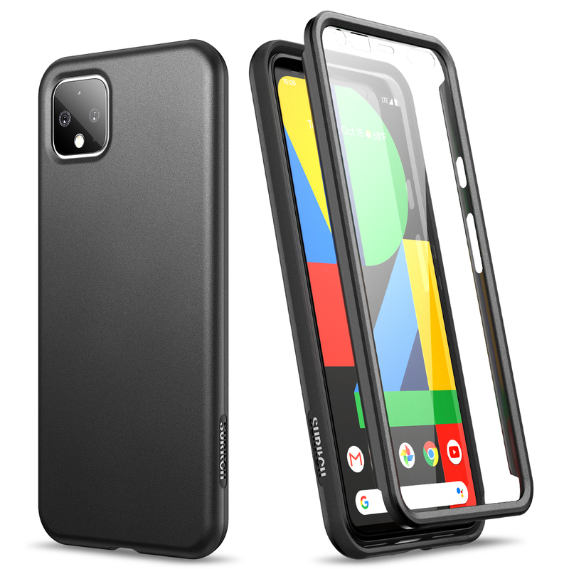 Soft Bumper Case For Google Pixel 4 XL Case 2 In 1 Shockproof Cover With Built-In Screen Protector For Google Pixel 4 Case Cover