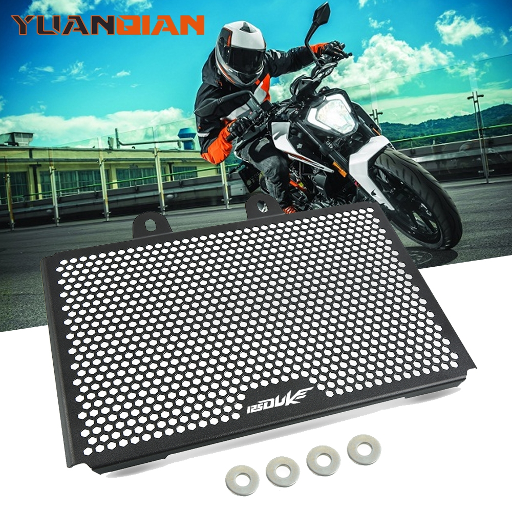 Motorcycle Accessories DUKE125 CNC Engine Radiator Bezel Grille Guard Cover Protector Grill For KTM duke 125 2017 2018 2019 image