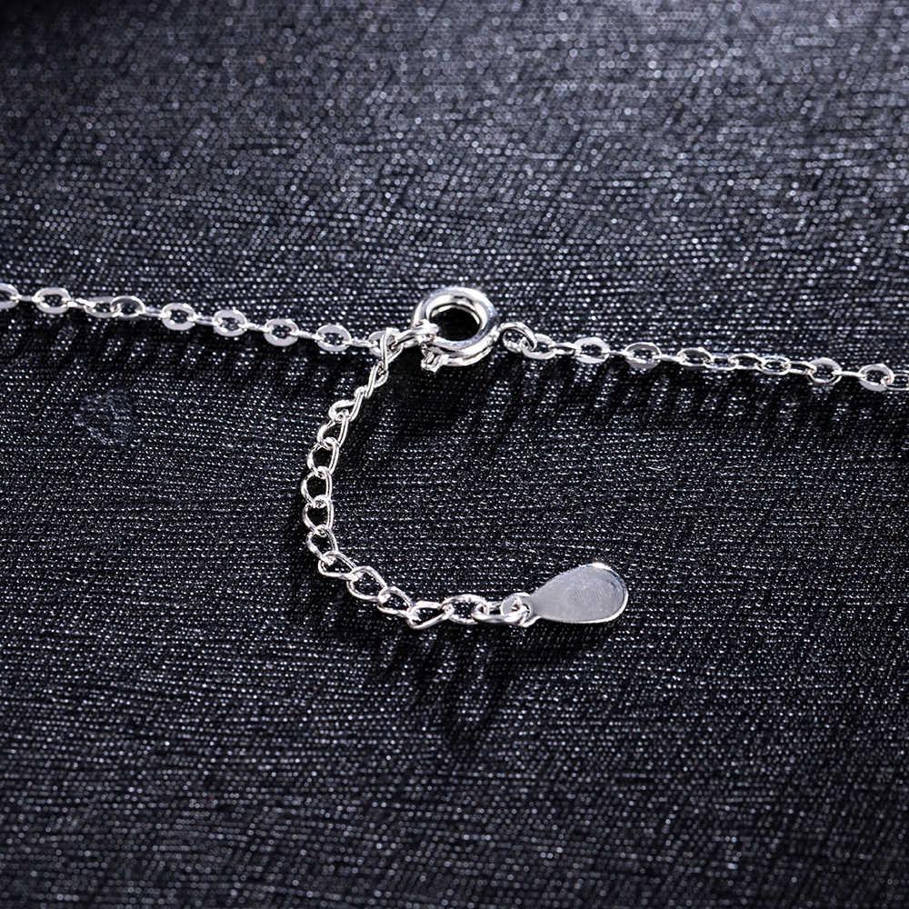 תליוני תכשיטי מתנה נשים בנות סיטונאי קסם בציר גברת Romantik קריסטל Snowflake זירקון כוכב פנטגרם כסף שרשראות