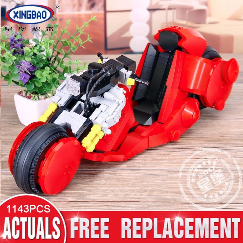XINGBAO 03001 1143pcs The Citizen Akira Moto Set Building Blocks Bricks Assembled DIY Birthday Educational Toys Funny Gifts