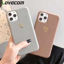 LOVECOM funda para teléfono para iPhone 11 Pro Max XR XS Max 6 6s 7 7 Plus X Electroplate de corazón Vintage caramelo lindo suave de TPU
