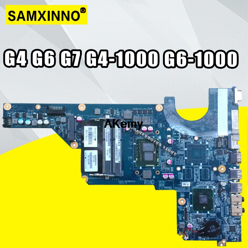 HP G4-1000 G6-1000 G7-1000 WITH I3-370M CPU Motherboaord DAR18DMB6D1 654118-001