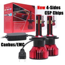 CarTnT Mini CSP LED H7 H4 H11 H1 H3 9005 HB3 9006 HB4 9007 żarówki LED do reflektorów samochodowych 50W 8000LM 6000K Auto Led Canbus 12V 24V