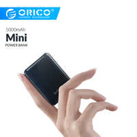 ORICO 5000 mAh Mini Power Bank Tragbare Lade Externe Batterie Slim Power Poverbank 5000 mAh Für iphone Xiaomi Smartphone
