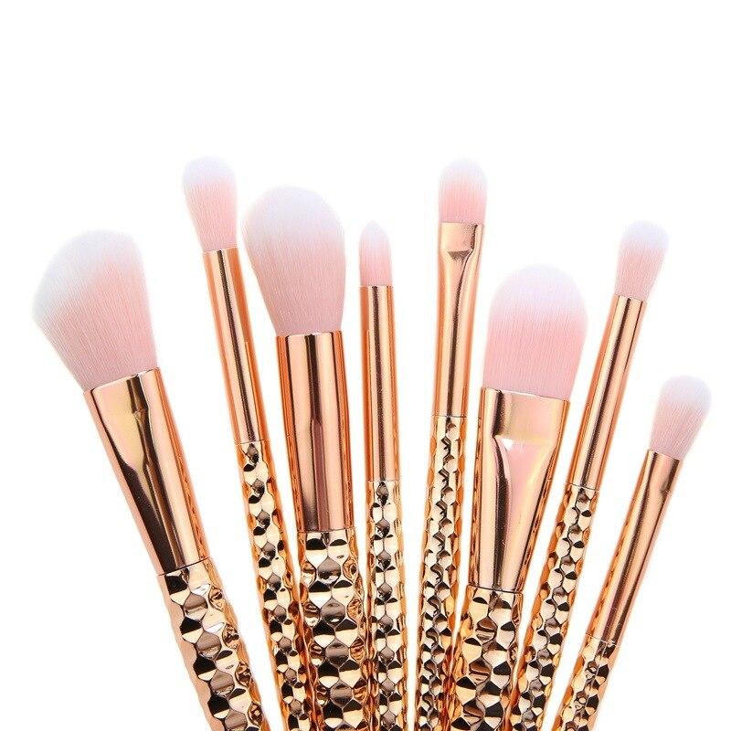 10pcs honeycomb Makeup Brushes Set Maquiagem Foundation Powder Cosmetic Blush Eyeshadow Women Beauty Glitter Make Up Brush Tools