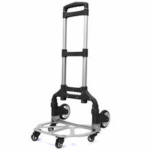 Household Aluminum Alloy Luggage Cart, Climbing Stairs Trolley Can Load 165lbs, Portable Small Trailer Pulling Truck