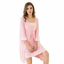 2 adet/takım gebelik pijama pijama hemşirelik hamile kadın Sling emzirme gecelik doğum emeği elbise + elbise doğum